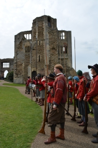 Roundheads at the castle Photo PAUL LINDUS